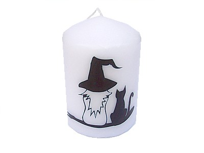 10cm Witch and Cat Candle